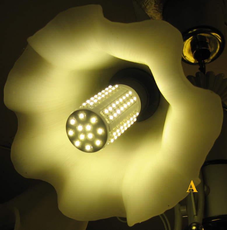 свет светотиодной лампы
