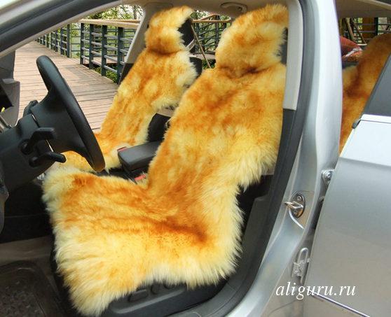 меховая накидка для автомобиля