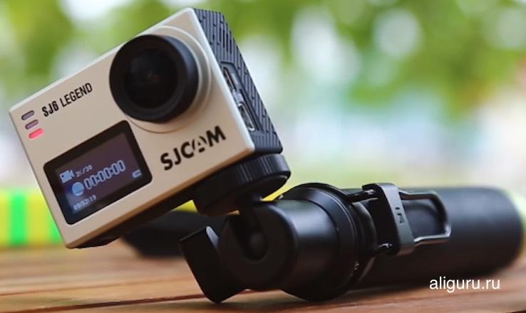 экшн камера на моноподе